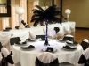 black ostrich feather centerpiece table
