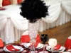 black feather ball centerpiece