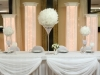 white feather ball head table setup