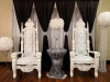white thrones and backdrop