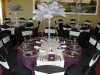 silver ostrich feather centerpiece table